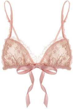 Hanky Panky Gilded floral lace soft-cup triangle bra in ballet pink