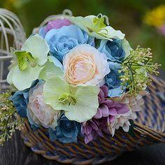 Phalaenopsis Rose Mos Brudebuketter Holder Blomster Bryllup Blomster