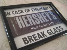 Emergency Chocolate, Christmas Gift, Gift for Teacher, Chocolate Lovers, Funny Gifts, Picture Frame Gifts. $5.00, via Etsy.