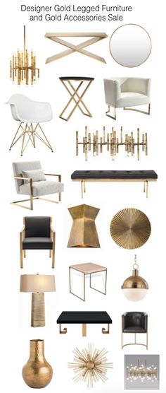 Loving furniture with gold legs