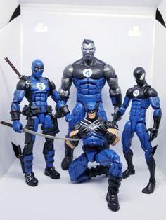 Fantastic Four Deadpool Wolverine Colossus Spiderman (Marvel Legends) Custom Action Figure