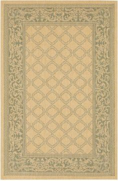 "Couristan Closeout! Area Rug, Indoor/Outdoor Recife 1016/5016 Garden Lattice Natural-Green 5'10"" x 9'2"""
