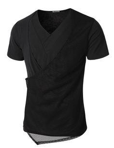 Mens Short Sleeve T-shirt with Layering Mash (KMTTS10)