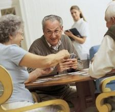 Memory Games for Senior Citizens By David Coodin: Help a senior citizen in your care improve her memory with a variety of games designed to increase sharpness and awareness. Playing these games has the added benefit of being fun and encouraging bonding Memory Games For Seniors, Games For Senior Citizens, Senior Citizen Activities, Nursing Home Activities, Dementia Activities, Therapy Activities, Fun Activities, Spring Activities, Therapy Ideas