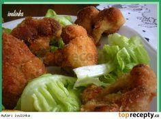 Květák smažený v troubě Cauliflower Vegetable, Czech Recipes, Vegetable Recipes, Fries, Czech Food, Recipies, Cooking Recipes, Meat, Chicken