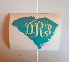 Home state with monogram decal