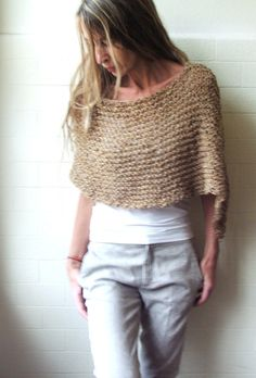 sandy yellow Alpaca mix Poncho by ileaiye on Etsy, $59.00