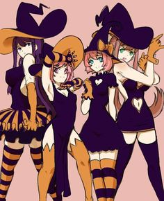 The Witch Club by an anonymous user on - DDLC Illustration Kawaii, Game Character, Character Design, Oki Doki, School Girl Japan, Cute Games, Nerd, Fan Art, Literature Club