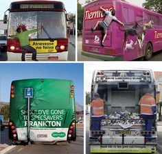 Fun adverts found on the back of buses. These are made using vinyl graphics  #digitalprint