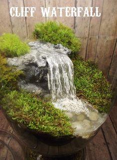 Add a Miniature Waterfall, Pond or River to your Fairy Garden Terrarium – Unique Terrarium Accessory – Handmade by Gypsy Raku - Garten Welt