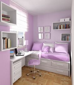 Bon Room Decorating Ideas For Teenage Girls: 10 Purple Teen Girls Bedroom  Decorating Trends Ideas Purple Teen U2013 Box Shelves. Good For Small Room