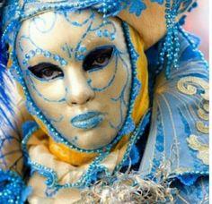 Gold & Blue Mask