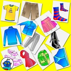 Clip Art for Clothing - Color and b/w png files. 24 Images: apron boots cap coat dress glasses gloves handbag hat jacket jeans jumper pants scarf shirt shoe shoes shorts skirt socks sweater t-shirt trousers watch  All images files are in color and black / white line art. All files on clear back grounds at 300 DPI.