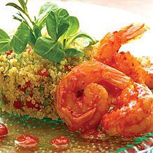 Mexico meets Peru with Spicy Shrimp and Quinoa Salad  (Camarones a la Diabla con Ensalada de Quinoa) #recipes #GOYA