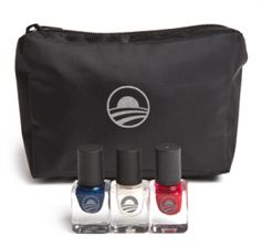 Nail News! Now normally we don't think of nail polish as being political...but guess whose campaign has jumped on the nail art bandwagon? As President Obama gears up for the upcoming election, his team plans to launch a line of polish. What colors? Red, white, and blue of course. The set will cost around $40 for the 3 shades and a collectable bag. Will YOU vote for this varnish?