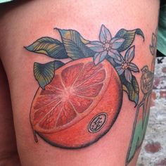 orange fruit tattoo