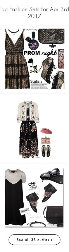 """Top Fashion Sets for Apr 3rd, 2017"" by polyvore ❤ liked on Polyvore featuring Alice + Olivia, Jimmy Choo, Bottega Veneta, Casetify, River Island, The 2nd Skin Co., Dune, Dolce&Gabbana, Anouki and Kate Spade"