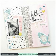 Traveler's Notebook's are on trend at the moment! Have you tried one? Designer @ashleylaurabu created this pretty spread using products from the #june2017 #hipkits! @hipkitclub #hkcexclusives #exclusives #hipkitclub #hipkit #hipkitexclusives #travelersnotebook #notebook #journal #travelersjournal @pinkfreshstudio #dreamon #washitape #papercrafting #kitclub #scrapbookkits #scrapbookingkitclub #documenteveryday