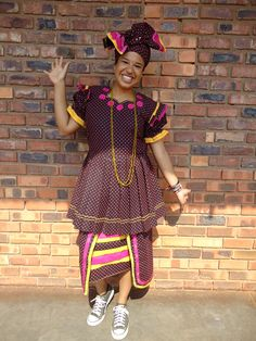 Most popular Tsonga Traditional Wedding Dress - Fashionre Pedi Traditional Attire, Tsonga Traditional Dresses, Traditional Outfits, African Traditional Wedding Dress, African Fashion Traditional, African Wedding Attire, African Attire, Xhosa Attire, Shweshwe Dresses