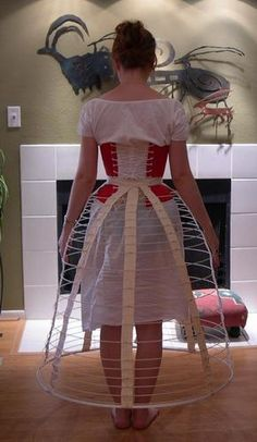 A Narrow Wire Cage Crinoline