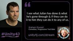 Comedian Graham Elwood - - Online Vigil in support of Julian Assange, June 2018 Hes Gone, Quick Quotes, Comedians, Unity, Graham, The Unit, Youtube