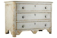 I love the weathered, white-washed finish on this chest of drawers (One Kings Lane)
