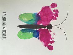 Fußabdrücke, DIY, Basteln mit Kind, Fingerfarbe, Kunstwerke mit Baby's Fussabdrücken, kostenlose Printables, Gastbeitrag Taunusmutti auf http://lifestylemommy.de/diy-fussabdruecke-mit-baby-geschenkideen/ (Diy Geschenke Oma)