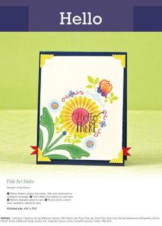 Folk Art Hello Designer : Emily Branch