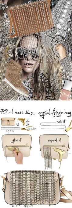 P.S.-I made this...Crystal Fringe Bag #PSIMADETHIS #DIY