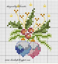 Witam i dziękuję za przemiłe gratulacje radujące babcine serducho !  Wieczór długi, każdy widzi. Pogoda byle jaka, więc trzymam się ciepłego... Cross Stitch Christmas Cards, Xmas Cross Stitch, Cross Stitch Cards, Cross Stitch Flowers, Christmas Cross, Cross Stitching, Cross Stitch Embroidery, Cross Stitch Designs, Cross Stitch Patterns