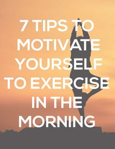 Use the following tips to make the morning sessions more enjoyable. #fitness #exercise #workout #health