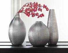 Round Silver Zeal Vase