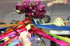 Bouquet de tulipas e fitas