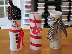 Cute Christmas cookie containers (repurposing)
