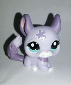 Littlest Pet Shop Purpe Flower Chinchilla Blue Teal Eyes #2135 Preowned LPS in Toys & Hobbies, Preschool Toys & Pretend Play, Littlest Pet Shop | eBay