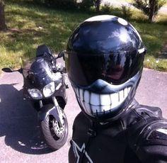 Smiley helmet selfie!