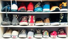 """""""[I could never get rid of my] sneakers. I love sneakers. I have no idea [how many pairs I own]. I love collecting backpacks and sneakers."""" www.thecoveteur.com/amirah-kassem-flour-shop"""