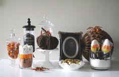 Halloween inspiration setup by Mon Tresor #trickortreat #halloween #pumpkins #ghosts #candycorn