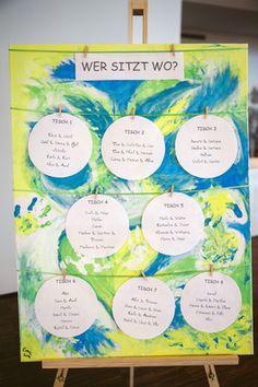 Eine Staffellei für die Sitzordnung! Table Seating, Newlyweds, Getting Married, Wedding