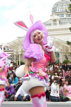 All sizes | Untitled | Flickr - Photo Sharing! Disneyland Parade, Tokyo Disneyland, Cool Costumes, Halloween Costumes, Easter Bunny Costume, Disney Universal Studios, Festival Of Fantasy Parade, Female Dancers, Tokyo Disney Sea