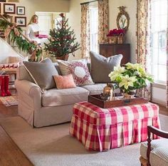 Love this room with all the reds for christmas time. NINE + SIXTEEN: Midwest Living Magazine Decor, Furniture, Room, Home Living Room, Family Room, Holiday House Tours, Country Decor, Home Decor, Midwest Living Magazine