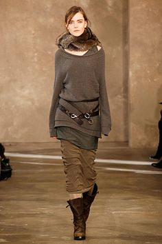 [ Donna Karan ] .. again, in theory - would probably change out the skirt for pants though, and no fur.