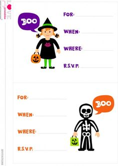 free halloween party printables from love party printables - Halloween Birthday Invitations Printable