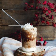 simple + healthy vegan chocolate coconut overnight oats recipe with Seven Sundays muesli, raw maca powder, cacao & hazelnut butter. perfect exercise meal