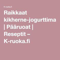 Raikkaat kikherne-jogurttimaljat | Pääruoat | Reseptit – K-ruoka.fi