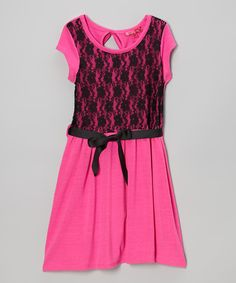 Lollipop Pink Lace Dress - Toddler & Girls | Daily deals for moms, babies and kids