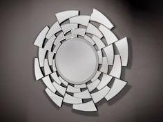 Espejo entrada casa circular #mirror Mirror Collage, Mirror Art, Large Round Mirror, Round Mirrors, Bathroom Mirror Design, Spiegel Design, Mirror Inspiration, Mirror Panels, Glass Vanity