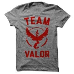 Represent your team, young Pokemaster! This is the perfect shirt for playing Pokemon Go. People will finally stop asking if you are playing, because duh. And you can meet other members of Team Valor!