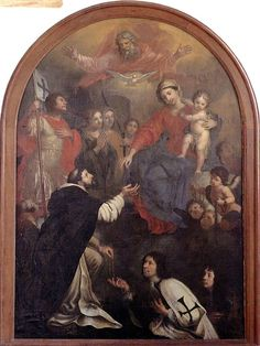 Altarbild mit Ordensritter.