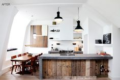 I love this idea I would never use a bar area but drill holes and use it as wine storage yes please.